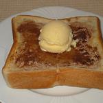 オリジナルトースト(シナモン+アイスクリーム)